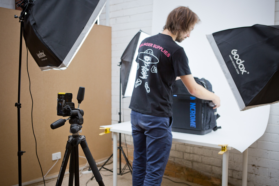 Member using photography nook